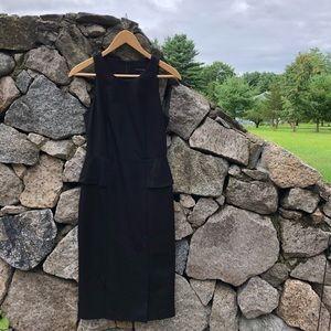 Banana Republic   Solid Black Peplum Dress.